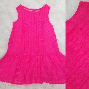 Osh Kosh Tribal Print Dress 12M 18M 2T Pink